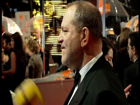harvey weinstein at the orange british academy film awards 2011 at london england. - ブランド名点の映像素材/bロール