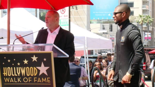 harvey weinstein at usher honored with star on the hollywood walk of fame at hollywood walk of fame on september 07, 2016 in hollywood, california. - usher stock videos & royalty-free footage