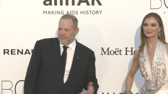 Harvey Weinstein Georgina Chapman at amfAR's 23rd Cinema Against AIDS Gala Arrivals at Hotel du CapEdenRoc on May 19 2016 in Cap d'Antibes France