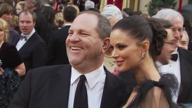 harvey weinstein, georgina chapman at the 82nd annual academy awards - arrivals at hollywood ca. - academy awards video stock e b–roll