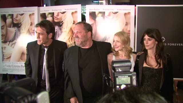 Harvey Weinstein Javier Bardem Penelope Cruz Patricia Clarkson at the 'Vicky Cristina Barcelona' Premiere at New York NY