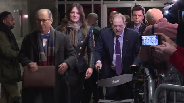 harvey weinstein leaves the manhattan criminal court, on february 19 in new york city. - jurors in ex-hollywood titan harvey weinstein's high-profile... - social movement stock videos & royalty-free footage