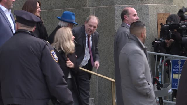 harvey weinstein leaves the manhattan criminal court, on february 20 in new york city. - jurors in ex-hollywood titan harvey weinstein's high-profile... - social movement stock videos & royalty-free footage