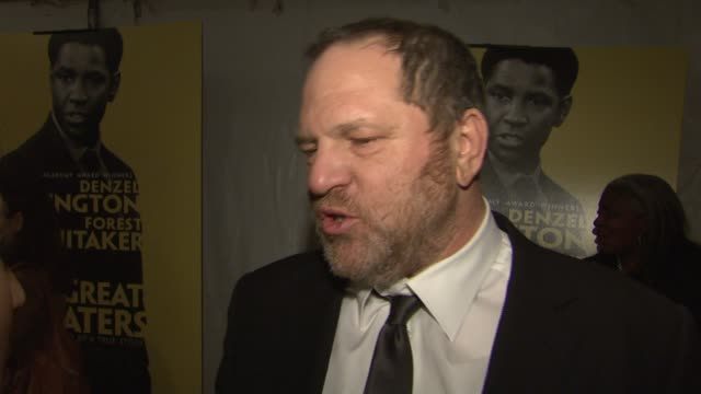 harvey weinstein on the collaboration of oprah winfrey denzel washington and forest whitaker and on the golden globe nomination at the 'the great... - oprah winfrey stock videos & royalty-free footage