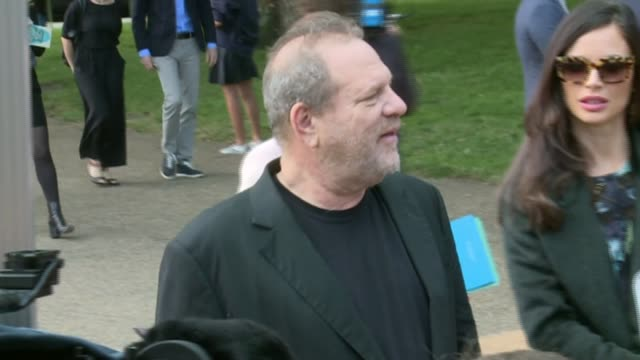 Harvey Weinstein sexual abuse allegations Condemnation continues LIB / 1592014 Weinstein arriving to attend the Burberry catwalk show