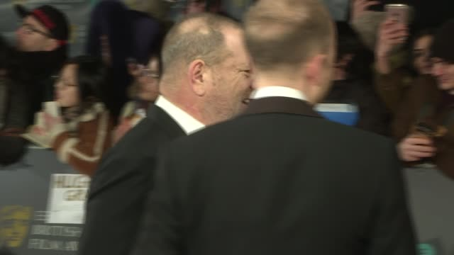 Harvey Weinstein sexual abuse allegations Condemnation continues LIB / 1222017 London Weinstein along the red carpet as attending the BAFTA Awards