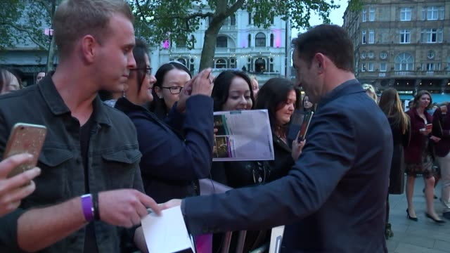 harvey weinstein sexual abuse allegations metropolitan police launch investigations england london ext jason isaacs signing autographs at... - jason isaacs stock videos & royalty-free footage