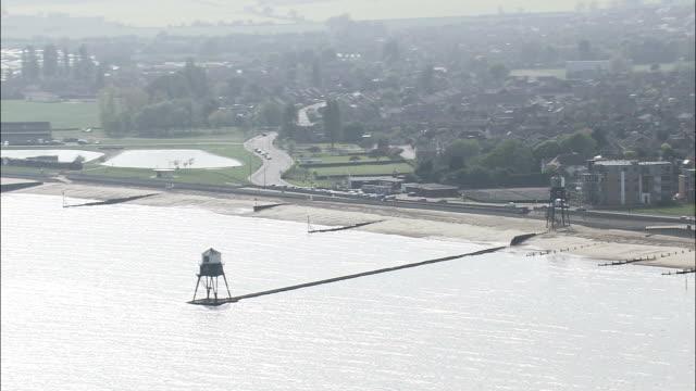 ハーウィッチ-航空写真イングランド、エセックス、tendring 地区、イギリス - エセックス州点の映像素材/bロール