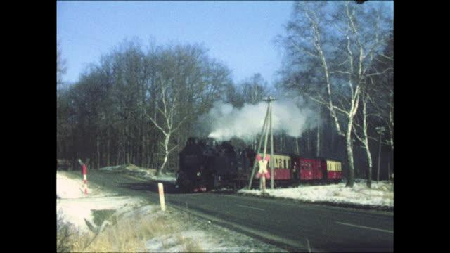 harz narrow gauge railways in 1978 (gdr) - east germany stock videos and b-roll footage