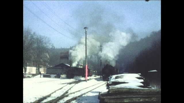 harz narrow gauge railways in 1978 (gdr) - narrow stock videos and b-roll footage