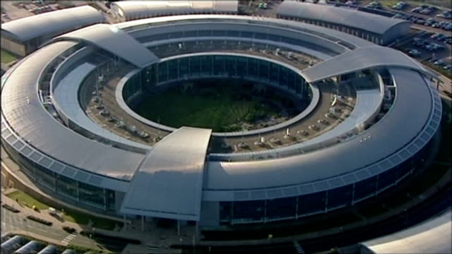 gchq has access to text message information collected by nsa 'dishfire' system r01011206 cheltenham gchq government communications headquarters... - gloucestershire stock videos and b-roll footage