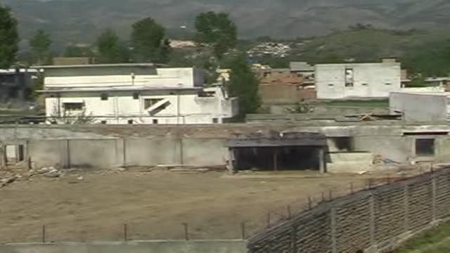 AFPTV has obtained images of Osama bin Laden's house in Abbottabad taken over the compound's high walls Abbottabad Pakistan