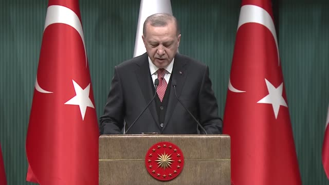 vídeos y material grabado en eventos de stock de eu has only transferred a quarter of $6b fund pledged for refugees in turkey president recep tayyip erdogan said during the joint press conference... - quarter