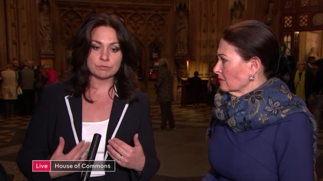 has the brexit crisis brought a darker and angrier side to britain live london commons lobby int heidi allen mp and anne marie morris mp interview sot - heidi allen stock videos & royalty-free footage