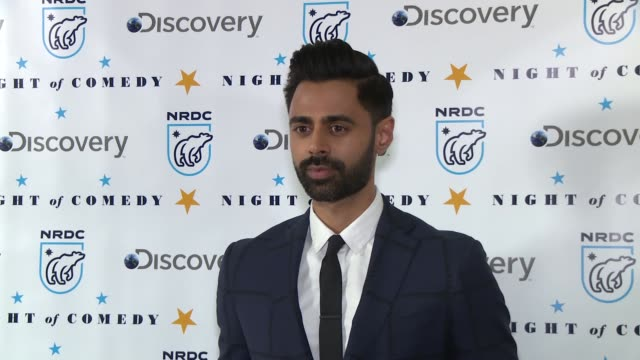 hasan minhaj at the natural resources defense council presents night of comedy benefit hosted by seth meyers at new york historical society on april... - seth meyers stock videos and b-roll footage