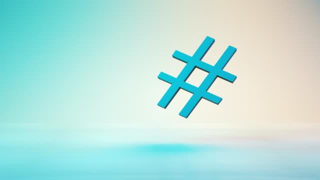 hashtag symbol, teknik bakgrund - följa rörlig aktivitet bildbanksvideor och videomaterial från bakom kulisserna