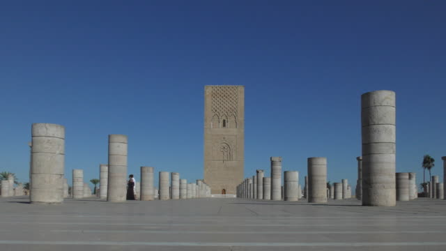 hassan tower - rabat, morocco - rabat morocco stock videos & royalty-free footage