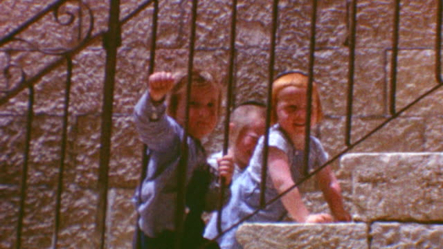 hassidic children in jerusalem / mahane yehuda market / mahane yehuda neighborhood on may 04 1962 in jerusalem israel - orthodox judaism stock videos & royalty-free footage