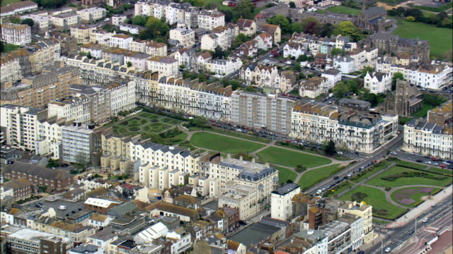 Hastings  - Aerial View - England,  East Sussex,  Hastings District,  United Kingdom