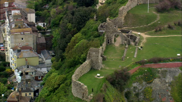 Hastings Castle  - Aerial View - England,  East Sussex,  Hastings District,  United Kingdom