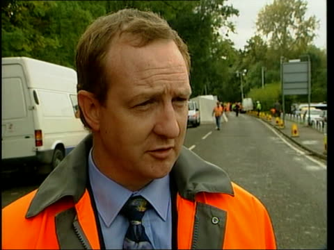 railtrack chief offers to resign england hertfordshire hatfield accident investigators standing at side of derailed gner train investigators along... - train crash stock videos & royalty-free footage