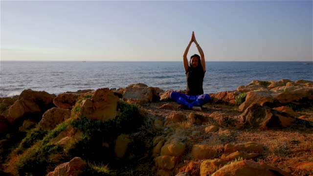 hatha yoga - posture stock videos and b-roll footage