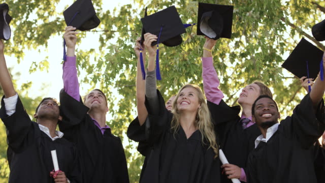 hats off to our great achievement - mortar board stock videos & royalty-free footage