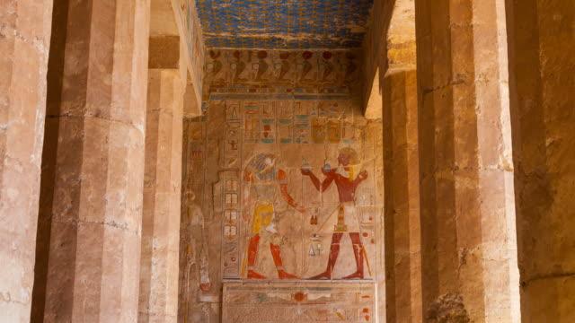 hatshepsut temple, luxor - hieroglyph stock videos & royalty-free footage