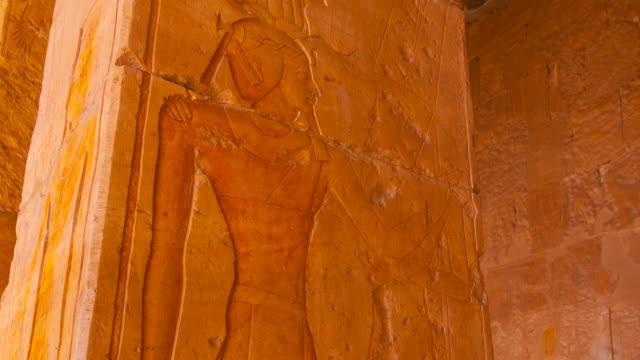 hatshepsut temple, luxor - レリーフ点の映像素材/bロール