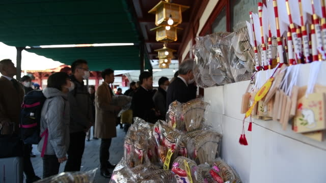 hatsumode is the first shinto shrine visit of the japanese new year at the kanda myojin shrine in tokyo japan on monday january 6 2020 - shinto shrine stock videos & royalty-free footage