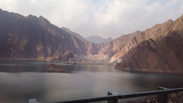 hatta lake in dubai emirate of uae - dam stock videos & royalty-free footage