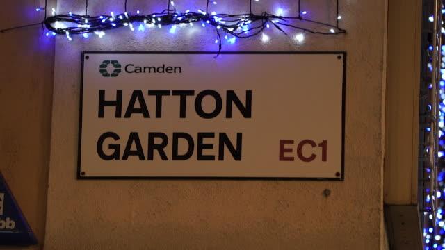 hatton garden street sign in london - street stock videos & royalty-free footage