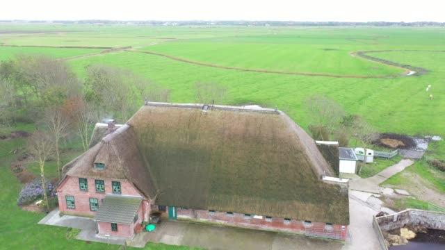 haubarg in north germany - roof stock videos & royalty-free footage