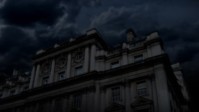 haunted chateau night & lightning (hd) - horror stock videos & royalty-free footage
