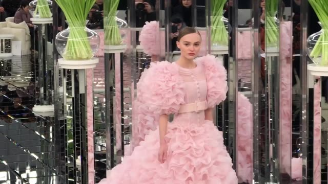 Haute Couture Chanel Catwalk on January 24 2017 in Paris France