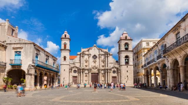 tl zo havana cathedral - baroque stock videos & royalty-free footage