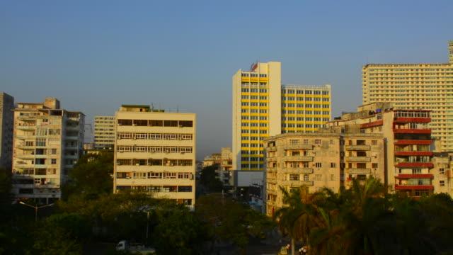 havana cuba downtown panoramic of buildings at sunrise near the nacional hotel - hotel nacional stock videos and b-roll footage