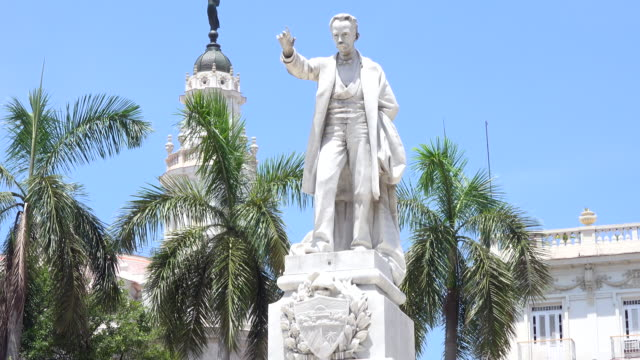 Havana, Cuba: Jose Marti statue in Central Park. The area is a tourist attraction in the capital city of the Socialist Caribbean Island