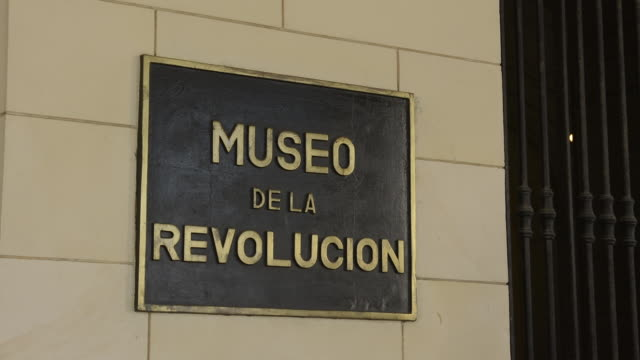 havana cuba revolution museum entrance sign to museum - entrance sign stock videos & royalty-free footage