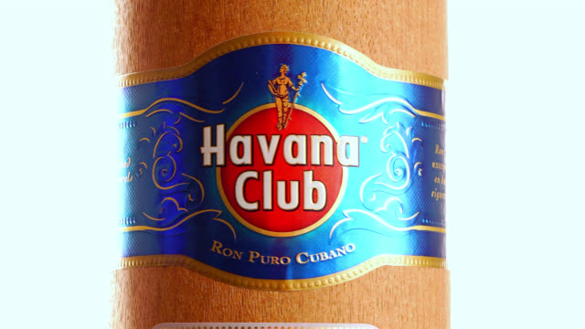 havana, cuba-august 10, 2020: in this illustrative editorial clip, the external wood packaging of a havana club 'seleccion de maestros' rum bottle.... - editorial stock videos & royalty-free footage