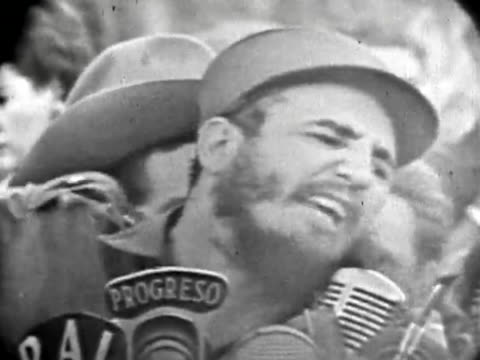 havana, cuba-circa 1959: fidel castro defends in a public speech the war crimes summary trials and executions. the speech gathers one of the largest... - legal trial stock videos & royalty-free footage