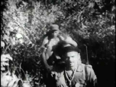 historic footage of the cuban rebel forces led by fidel castro in the sierra maestra sierra maestra is located in the east part of the country close... - cuban culture stock videos & royalty-free footage