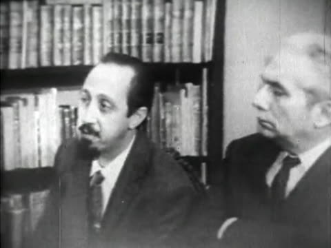 havana, cuba-circa 1959: juan marinello and carlos rafael rodriguez, both leaders of the communist party in cuba, are interviewed by the media on the... - communism stock videos & royalty-free footage