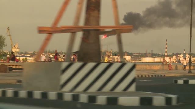 havana - flame in chimney - palm tree stock videos & royalty-free footage