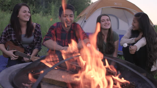 Having a Campfire with Friends
