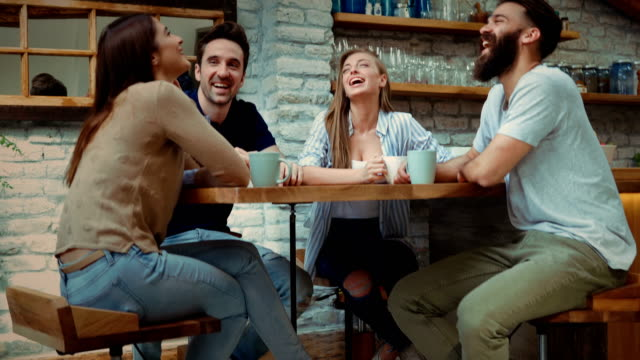 having a conversation - coffee drink stock videos & royalty-free footage