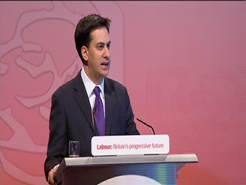 having been announced leader of the labour party ed miliband talks of his love for his brother ed and praises his leadership campaign at the annual... - brother stock videos & royalty-free footage