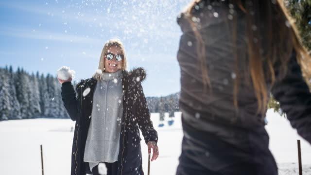 having fun during winter break - city break stock videos & royalty-free footage