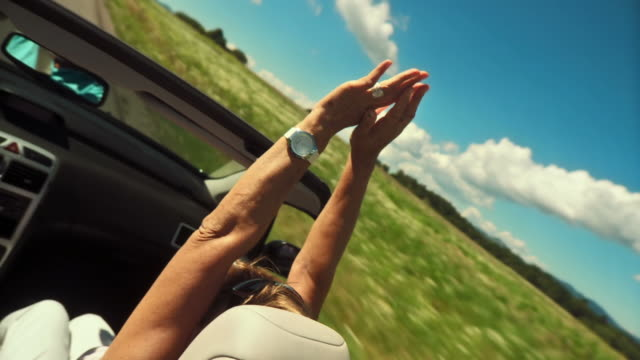 hd: having fun in a convertible - senior couple stock videos & royalty-free footage