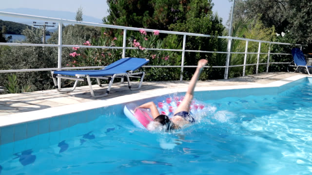 having fun in swimming pool - only teenage girls stock videos and b-roll footage